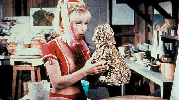 Unglücklicherweise hat Jeannie (Barbara Eden) Djinn-Djinn, einen kleinen Hund...