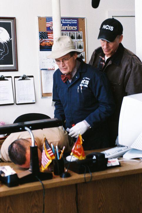 Ermitteln am Tatort: Ducky (David McCallum, M.) und Gibbs (Mark Harmon, r.) ... - Bildquelle: CBS Television
