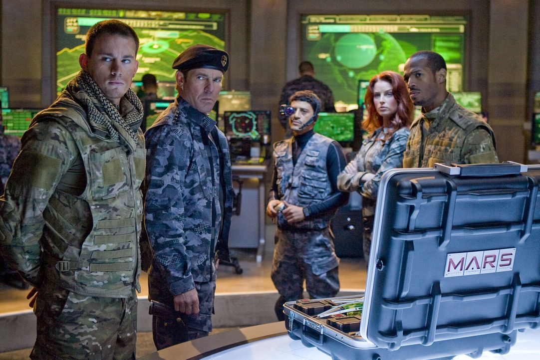 Das G.I. JOE Team: (v.l.n.r.) Duke (Channing Tatum), Commander General Hawk (Dennis Quaid), Technikfreak Breaker (Saïd Taghmaoui), Martial Arts-Exp... - Bildquelle: 2009 Paramount Pictures Corporation. All Rights Reserved. Reserved.