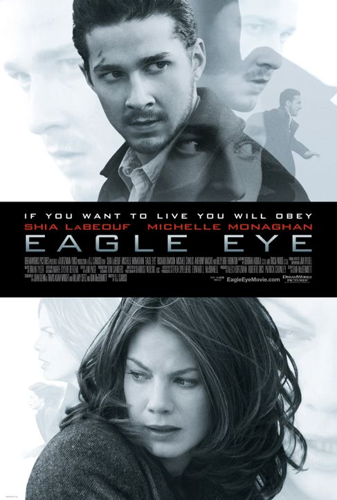 EAGLE EYE - AUSSER KONTROLLE - Plakatmotiv - Bildquelle: Paramount Pictures International