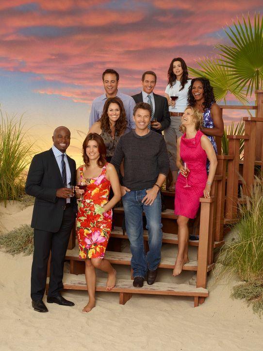 (4. Staffel) - Private Practice: (hinten v.l.n.r.) Cooper (Paul Adelstein), Sheldon (Brian Benben), Amelia (Caterina Scorsone), Naomi (Audra McDonal... - Bildquelle: ABC Studios