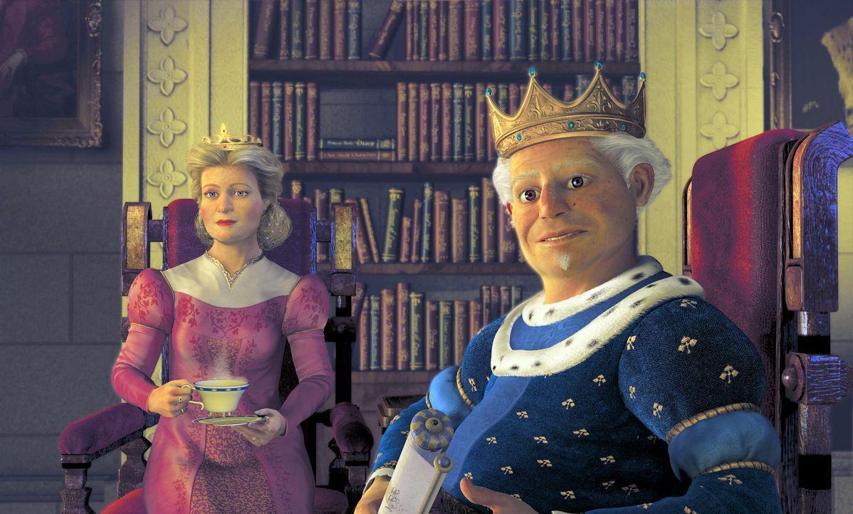 Eigentlich freuen sich Fionas königliche Eltern auf das Wiedersehen mit ihrer Tochter nebst Gatten, aber niemand hat sie auf den Anblick ihres neue... - Bildquelle: DreamWorks SKG