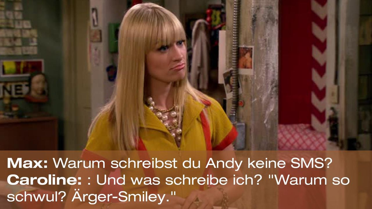 2-broke-girls-zitat-quote-staffel2-episode7-candy-andy-dandy-caroline-schwul-warnerpng 1600 x 900 - Bildquelle: Warner Brothers Entertainment Inc.