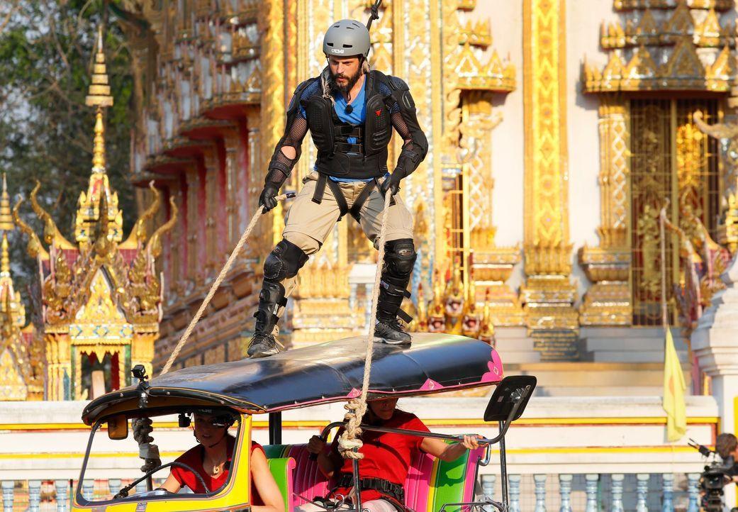 Global Gladiators Manuel Cortez (3) - Bildquelle: ProSieben/Richard Hübner