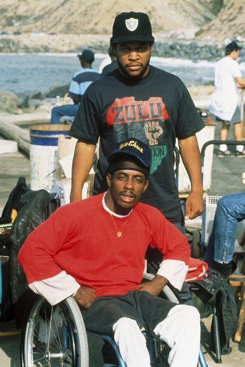 Nachdem Kumpel Ricky bei einem Bandenkrieg ums Leben kam, schwört Doughboy (Ice Cube, oben) blutige Rache ... - Bildquelle: Columbia Pictures