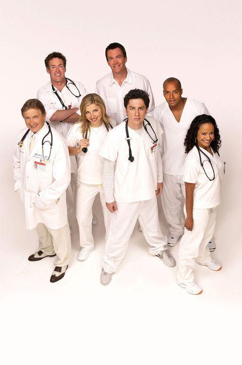 (2. Staffel) - Täglich fordert der Krankenhaus-Alltag den totalen Einsatz von den Halbgötter in Weiß: (v.l.n.r.) Dr. Bob Kelso (Ken Jenkins), Dr. Ph... - Bildquelle: Touchstone Television