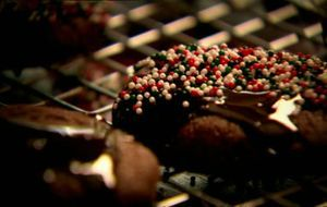 Weihnachtliche Schoko-Cookies
