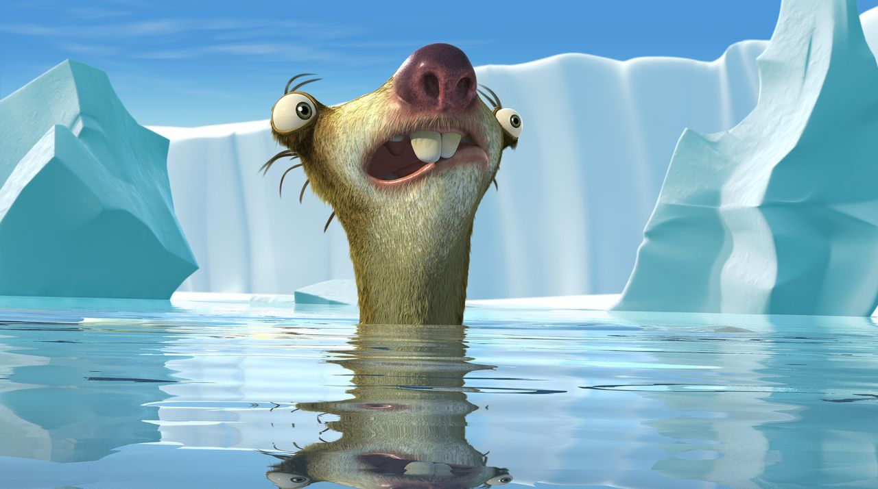 Neue Abenteuer warten auf Faultier Sid: Weil eine Klimaerwärmung die Eiswelt zum Schmelzen bringt, droht eine Sintflut das paradiesische Tal der Tie... - Bildquelle: ICE AGE THE MELTDOWN TM &   2006 Twentieth Century Fox Film Corporation. All Rights Reserved.