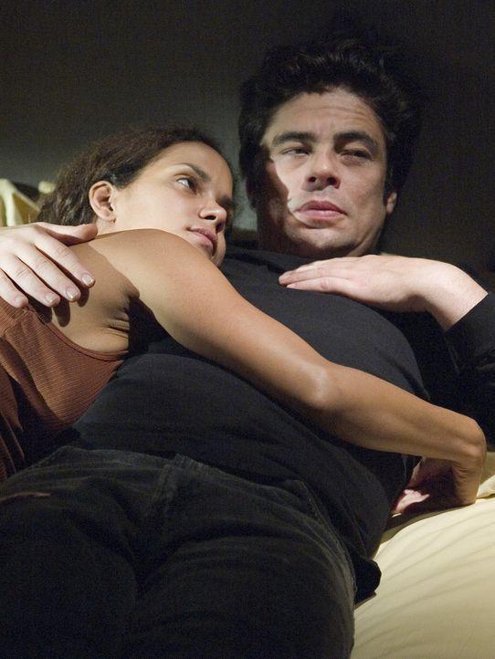 In ihrer schwierigen Situation stehen sie sich gegenseitig bei: Audrey (Halle Berry, l.) und Jerry (Benicio Del Toro, r.) ... - Bildquelle: DREAMWORKS LLC. ALL RIGHTS RESERVED.