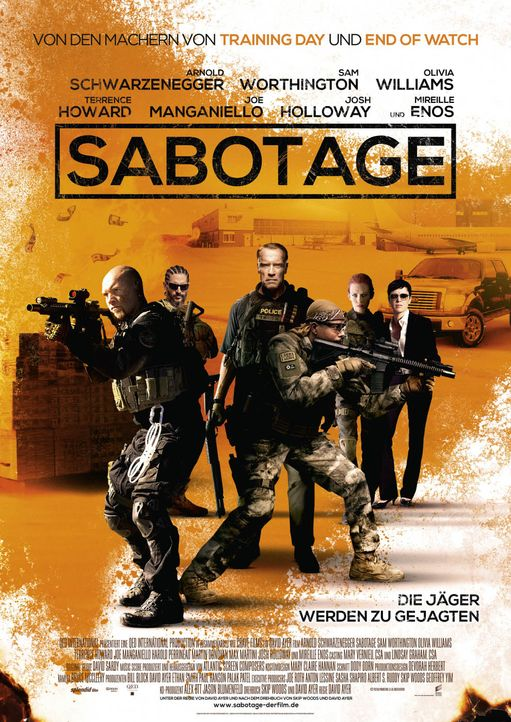 Sabotage-01-2014Sony-Pictures-Releasing-GmbH - Bildquelle: 2014 Sony Pictures Releasing GmbH