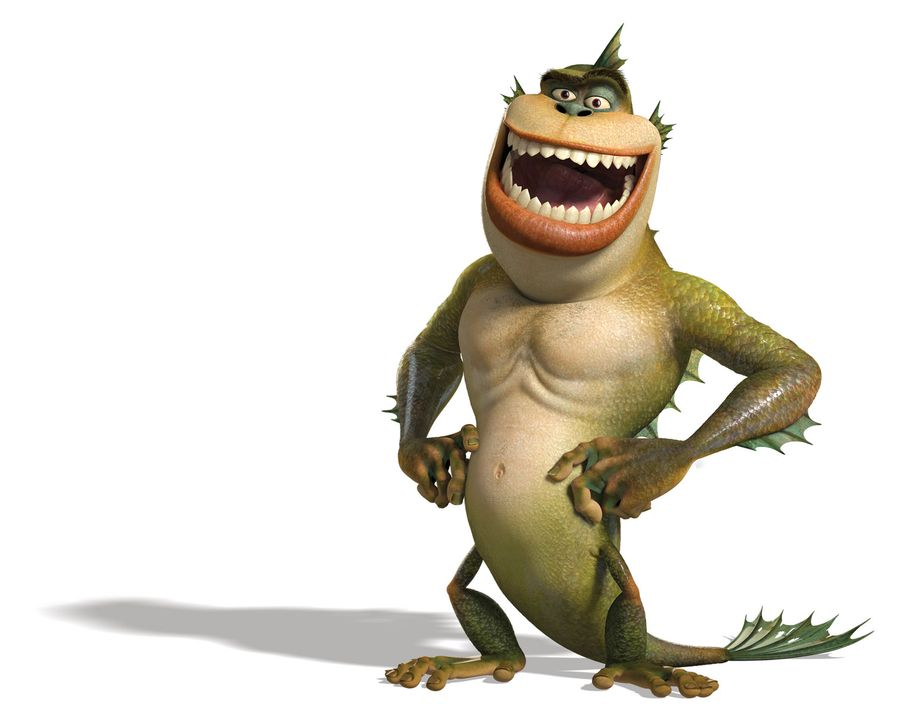 Gemeinsam mit seinen Monster-Kollegen, versucht Missing Link die Welt vor der bevorstehenden Zerstörung zu retten ... - Bildquelle: TM and   2008 by DreamWorks Animation LLC. All rights reserved.