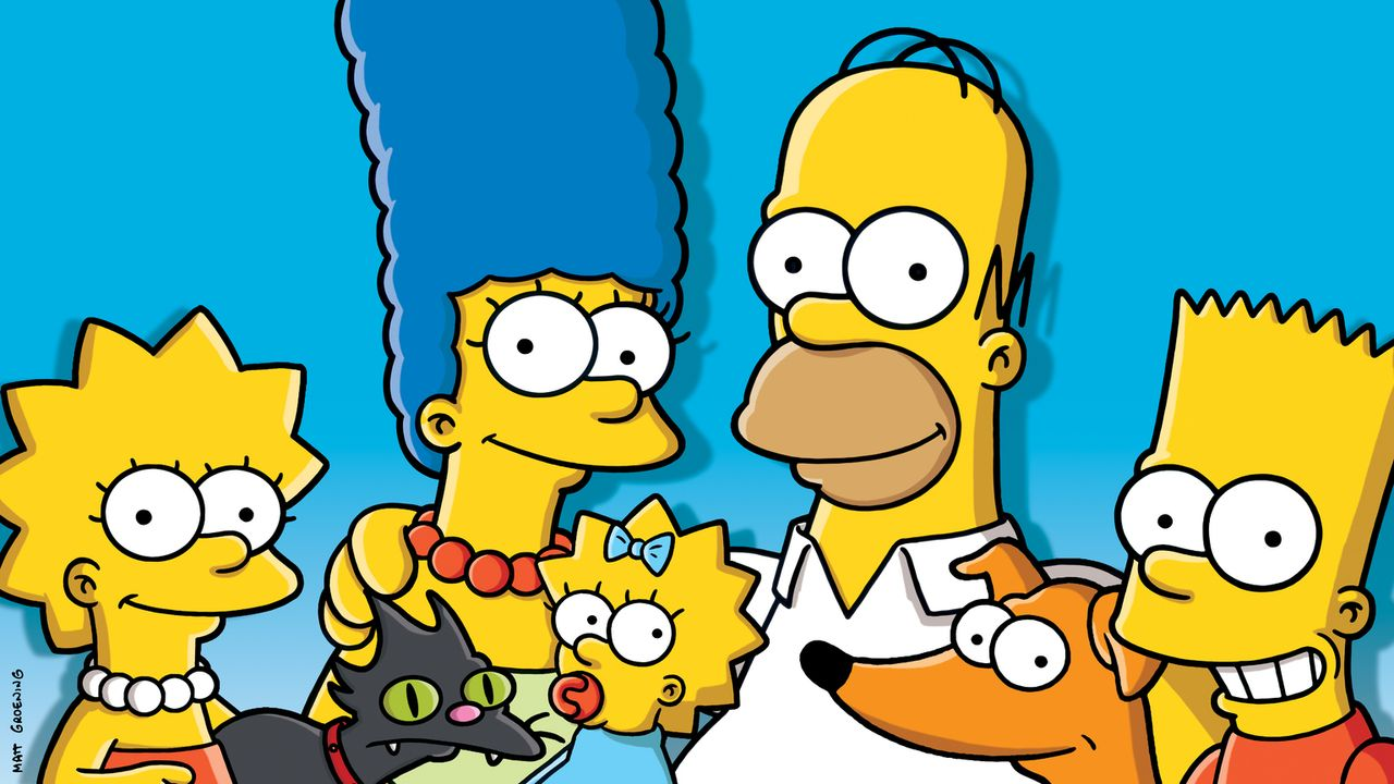 (28. Staffel) - Eine fast ganz normale Familie: Lisa (l.), Marge (2.v.l.), Maggie (M.), Homer (2.v.r.) und Bart (r.) ... - Bildquelle: 2016 - 2017 Fox and its related entities.  All rights reserved.
