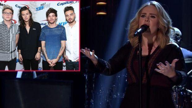 """Bei den """"Grammys 2016"""" dürfen Adele und """"One Direction"""" n..."""