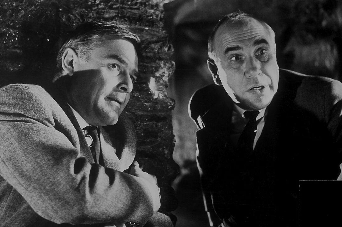Inspektor Puddler (Charles Regnier, r.) von Scotland Yard steht vor einem Rätsel: Wer ist der geheimnisvolle 'Schwarze Abt', der im Schl... - Bildquelle: Constantin Film