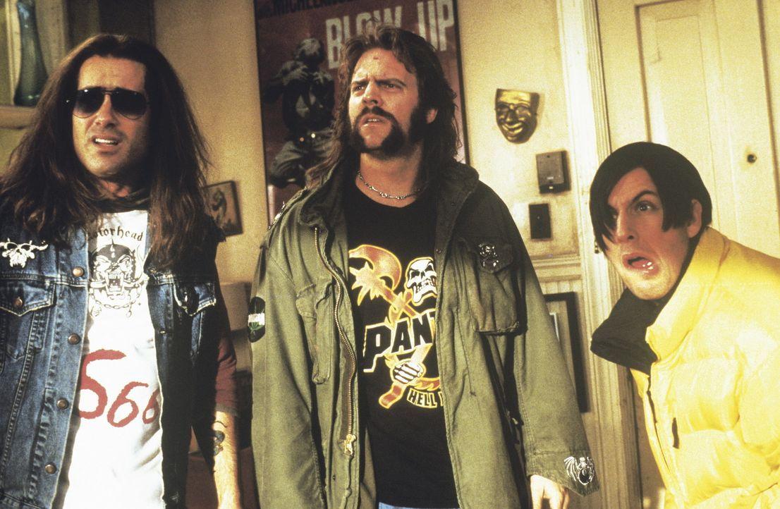 Bereits nach kurzer Zeit geben sich die beiden Death-Metal-Fans Peter (Peter Dante, l.) und John (John Loughran, M.) als glühende Verehrer des Sata... - Bildquelle: New Line Cinema