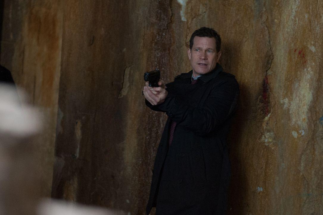Als ein Studienabbrecher ermordet wird, macht sich Al (Dylan Walsh) auf die Suche nach dem Täter auf einer verlassenen Insel nahe Manhattan ... - Bildquelle: 2014 Broadcasting Inc. All Rights Reserved.