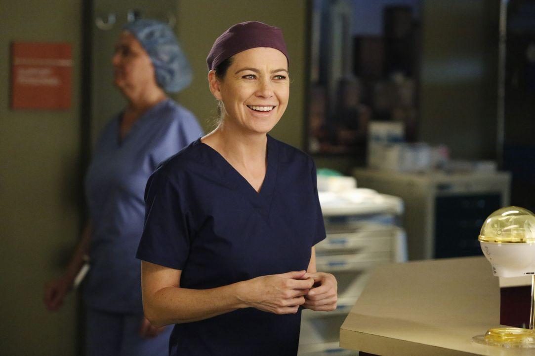 Während April und Jackson vor einer ihrer schwersten Entscheidungen in ihrem Leben stehen, sucht Meredith (Ellen Pompeo) nach einen Babysitter, um D... - Bildquelle: ABC Studios