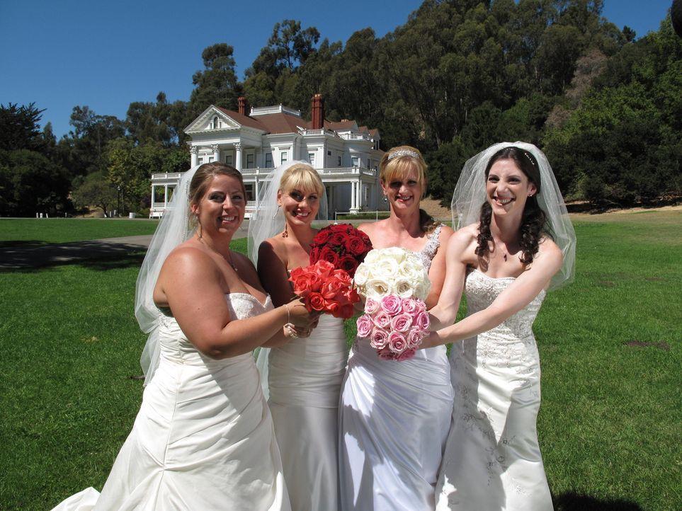 Jede der vier Bräute glaubt, die perfekte Hochzeit organisiert zu haben, doch wer wird auch die Konkurrenz davon überzeugen können: Brittany (l.), J... - Bildquelle: Richard Vagg DCL