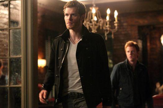 Vampire Diaries - Klaus (Joseph Morgan, l.) kämpft weiter darum, Särge mit sa...