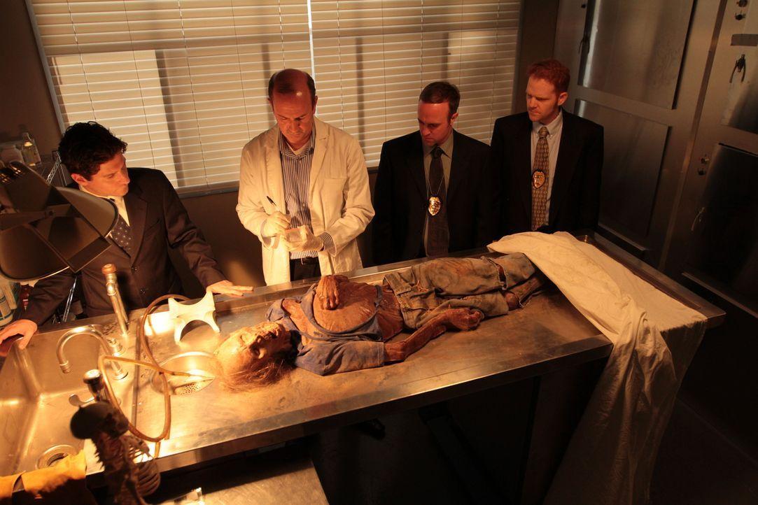 Ermittler und Forensiker untersuchen die mumifizierten Überreste einer männlichen Leiche, die 1985 in einem verlassenen Steinbruch in Illinois gefun... - Bildquelle: LMNO Cable Group