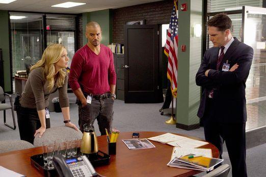 Criminal Minds - Ermitteln in einem neuen Mordfall: JJ (A. J. Cook, l.), Morg...