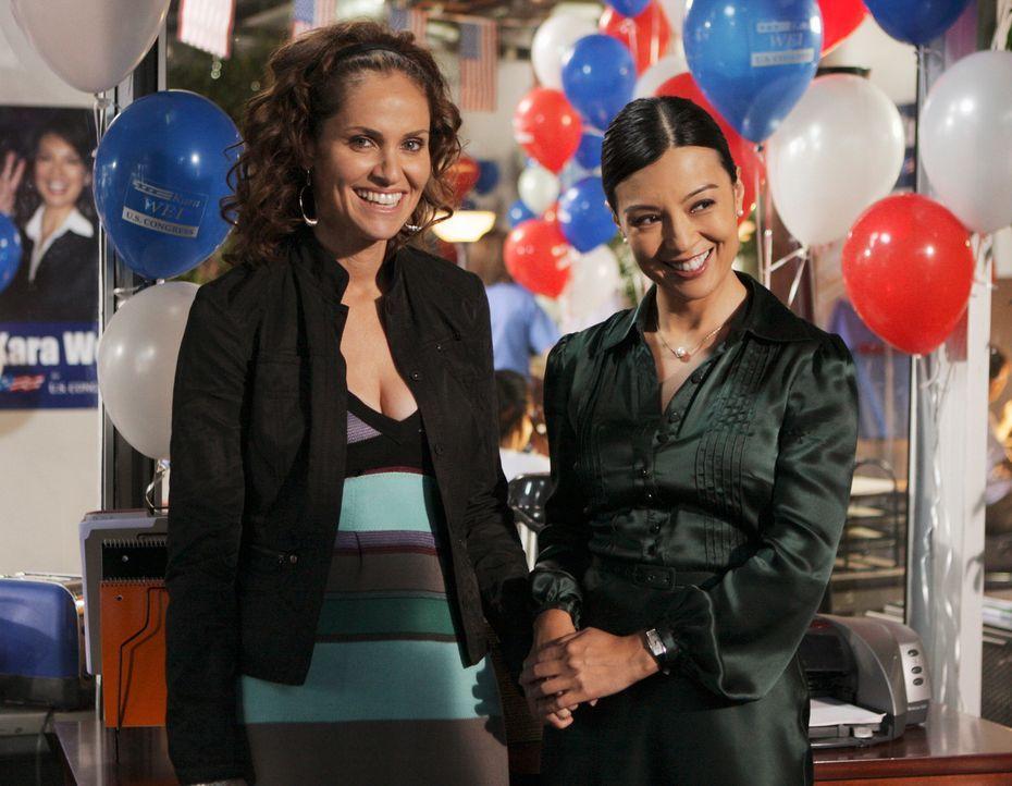 Violet (Amy Brenneman, l.) wird von Kara (Ming-Na, r.) in eine prekäre Situation gebracht ... - Bildquelle: ABC Studios