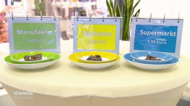 15 dinge video billig gegen teuer welche schokolade ist am besten sat 1. Black Bedroom Furniture Sets. Home Design Ideas