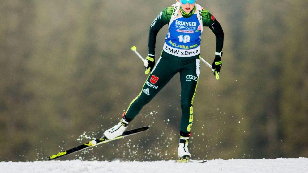 Franziska Preuß sprintet auf Platz neun - Bildquelle: PIXATHLONPIXATHLONSID