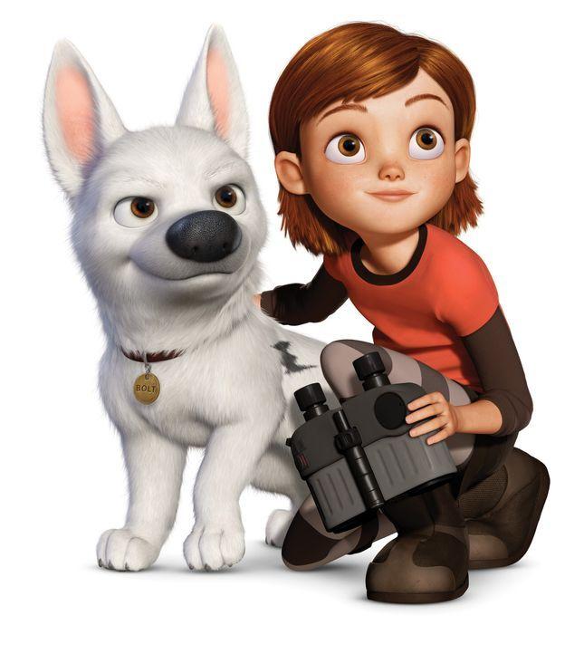 Penny (r.) und ihr Hund Bolt (l.) erleben zusammen viele aufregende Abenteuer. - Bildquelle: Disney Enterprises, Inc.  All rights reserved
