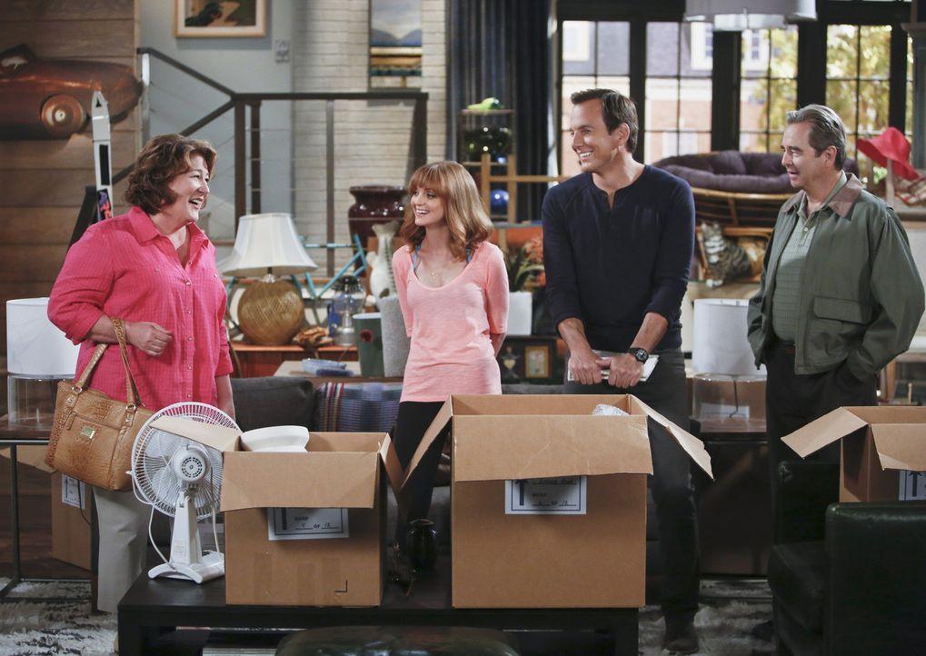 Um ihre Eltern Tom (Beau Bridges, r.) und Carol (Margo Martindale, l.) wieder zusammen zu bringen, kramen Nathan (Will Arnett, 2.v.r.) und Debbie (J... - Bildquelle: 2013 CBS Broadcasting, Inc. All Rights Reserved.
