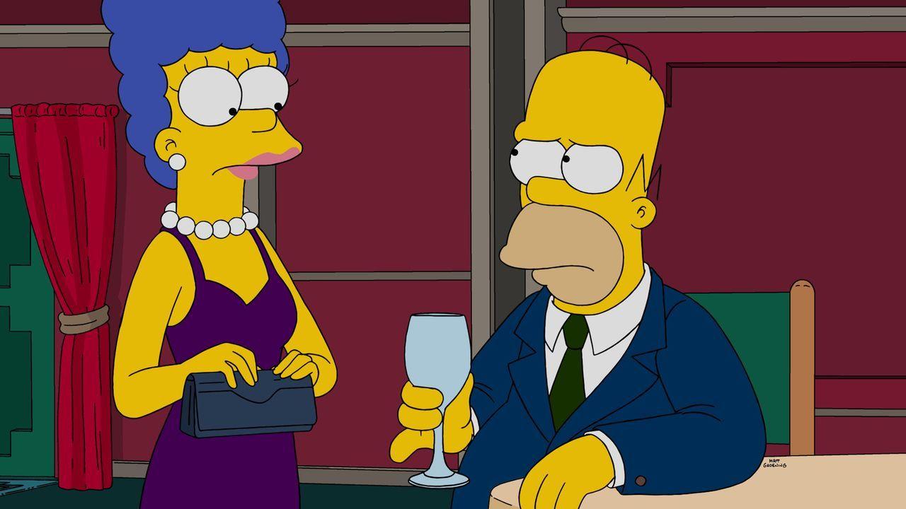 Homer (r.) und Marge (l.) haben mal wieder Probleme und besuchen deshalb die letzte Paar-Therapeutin, die sie noch nicht besucht haben. Doch steht d... - Bildquelle: 2015 Fox and its related entities.  All rights reserved.