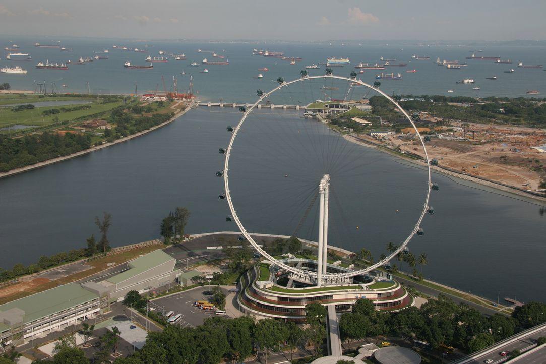 """Der """"Singapore Flyer"""" ist mit einer Höhe von 165 Metern das zweithöchste Riesenrad der Welt. Welche technischen Herausforderungen steckten hinter di... - Bildquelle: Martin Gorst Martin Gorst"""