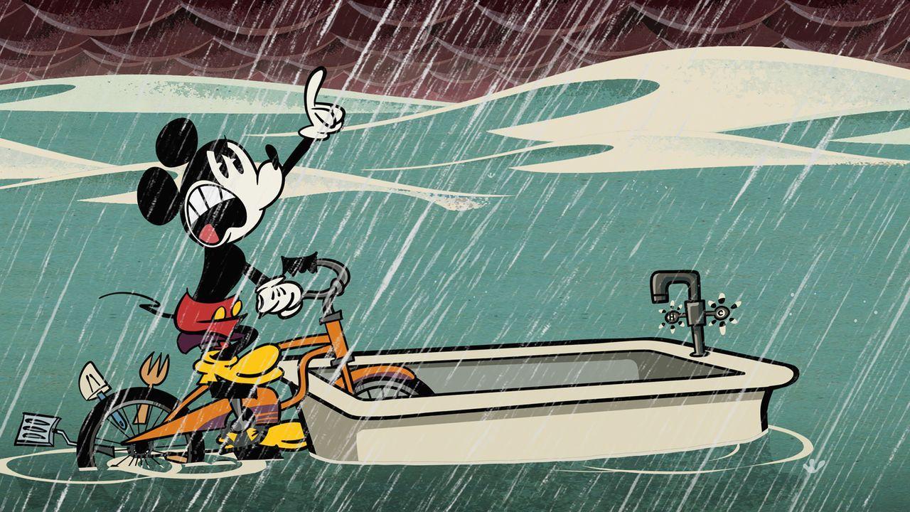 Nichts kann Micky (Bild) davon abhalten, seine Minnie vor dem Sturm zu retten! - Bildquelle: Disney