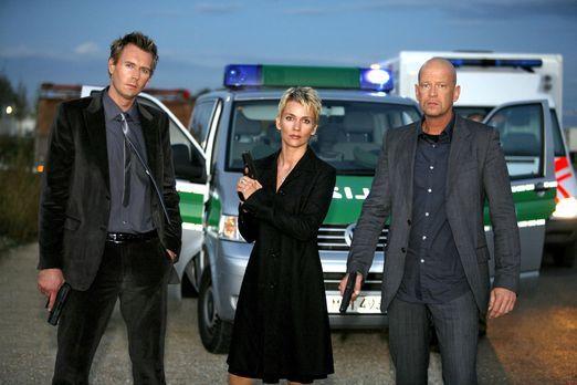 Der letzte Einsatz: (v.l.n.r.) Gerrit Grass, Alexandra Rietz und Michael Nase...
