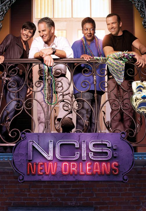(2. Staffel) - Das NCIS-Team in den Südstaaten: Special Agent Pride (Scott Bakula, 2.v.l.), Special Agent Brody (Zoe McLellan, l.), Special Agent La... - Bildquelle: 2014 CBS Broadcasting Inc. All Rights Reserved.