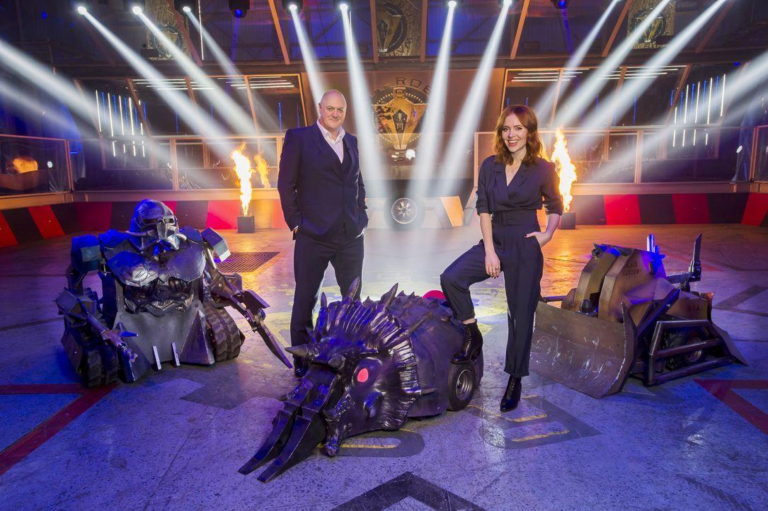 Welches der 40 rivalisierenden Teams vereint die größten Technik-Genies und geht mit seinem selbst konstruierten Roboter am Ende aus der Arena als S... - Bildquelle: Alan Peebles