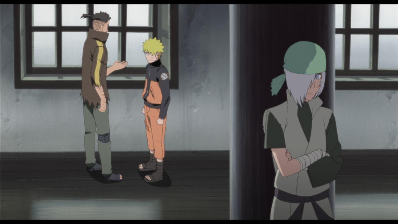 Als Naruto (M.) des Mordes an mehreren Jonin und einem Attentat auf einen Raikage beschuldigt wird, schmiedet er mit seiner Zellennachbarin Ryuzetsu... - Bildquelle: 2002 MASASHI KISHIMOTO /2007 Shippuden   NMP 2011