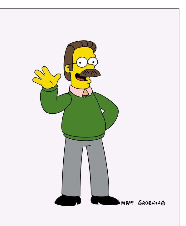 (15. Staffel) - Manchmal gewöhnungsbedürftig: Nachbar der Simpsons Ned Flanders. - Bildquelle: und TM Twentieth Century Fox Film Corporation - Alle Rechte vorbehalten