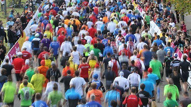 Teilnehmer beim Marathon in München