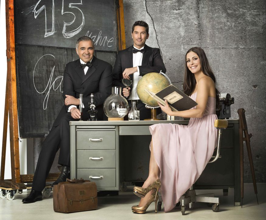 Galileo wird 15 Jahre und wir lassen's krachen (v.l.n.r.) Aiman Abdallah, Stefan Gödde und Funda Vanroy - Bildquelle: Arne Weychardt ProSieben