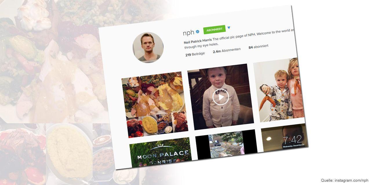 Thanksgiving-neil-patrick-harris-instagram-com-nph - Bildquelle: instagram.com/nph