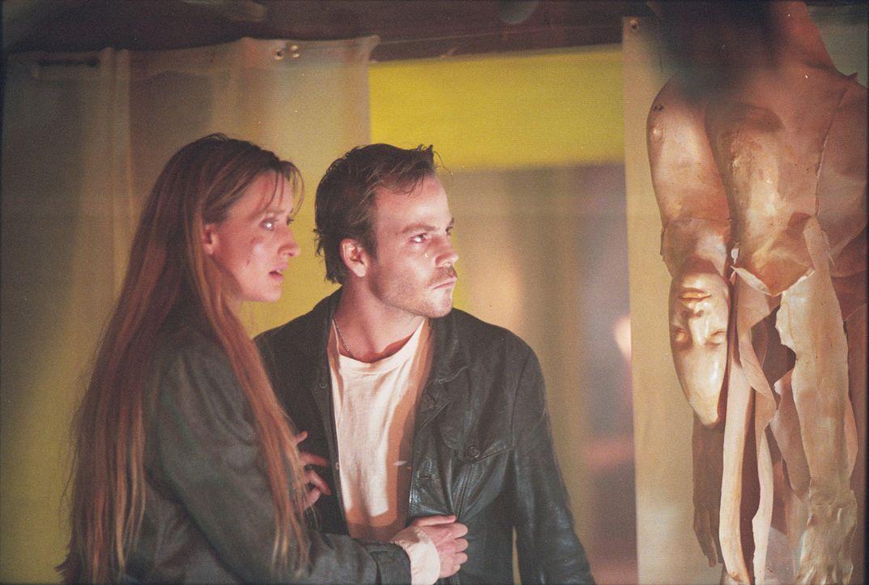 Schon bald müssen Mike (Stephen Dorff, r.) und Terry (Natascha McElhone, l.) feststellen, dass man mit dem Einloggen auf die Internet-Seite www.fea... - Bildquelle: 2003 Sony Pictures Television International. All Rights Reserved.