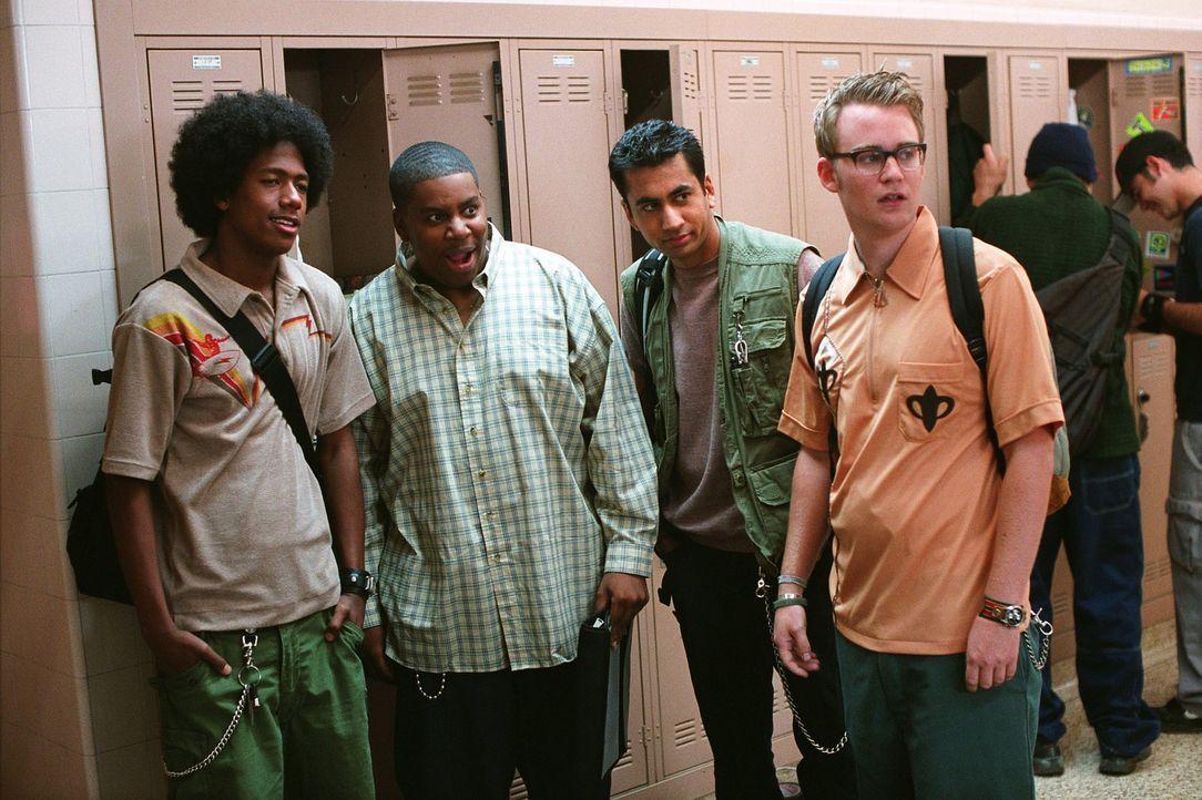 Sind das Loser-Quartett der Schule: (v.l.n.r.) Alvin (Nick Cannon), Walter (Kenan Thompson), Kenneth (Kal Penn) und Chuck (Kevin Christy) ... - Bildquelle: 2002   Warner Brothers