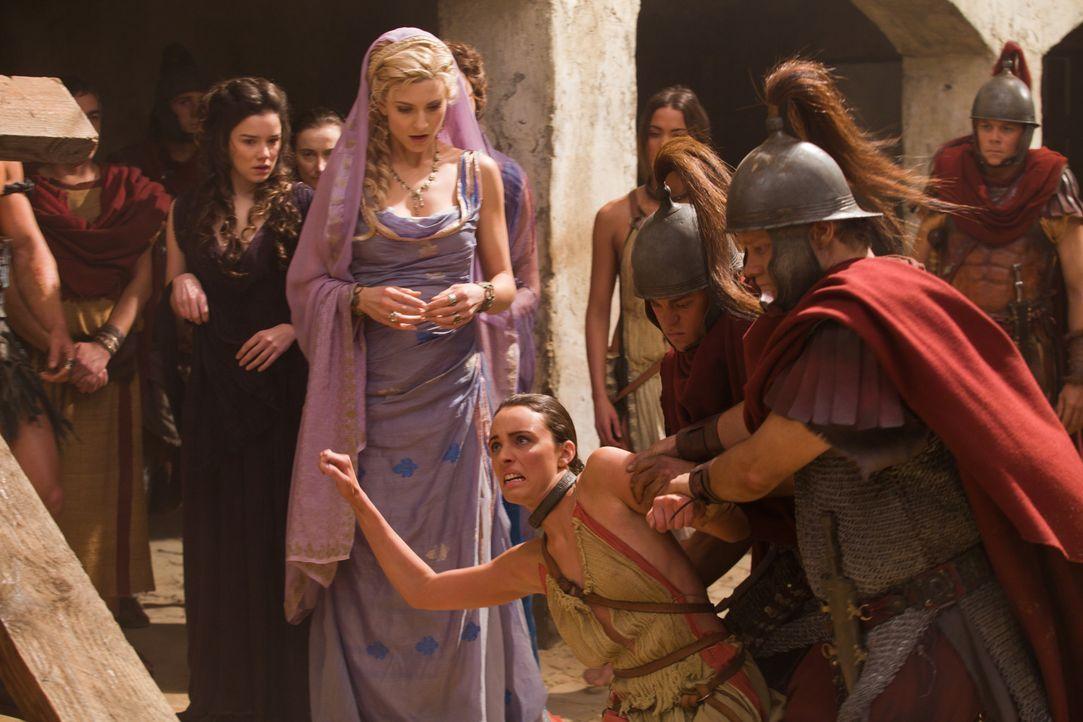 Als Glaber ihre treueste Zofe als Verräterin hinrichten lässt, ahnt Ilithyia (Viva Bianca, M.), dass sie jegliche Herrschaft über ihren Mann verl... - Bildquelle: 2011 Starz Entertainment, LLC. All rights reserved.