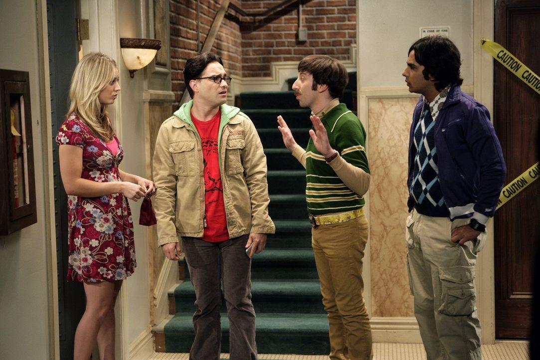 Nachdem Sheldon zu seiner Mutter nach Texas gereist ist, um sich nicht weiter demütigen zu lassen, ist Penny (Kaley Cuoco, l.) der Meinung, dass Le... - Bildquelle: Warner Bros. Television