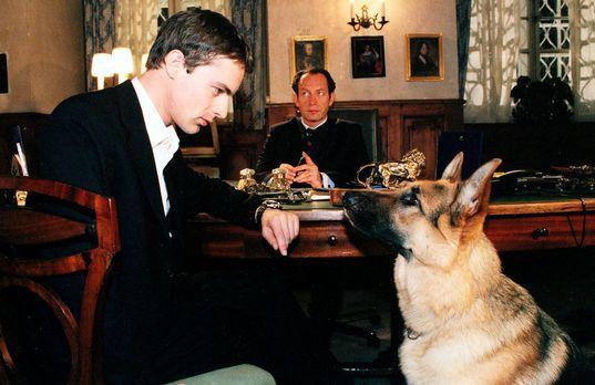 Kommissar Brandtner (Gedeon Burkhard, l.) und Rex befragen den Hotelbesitzer...