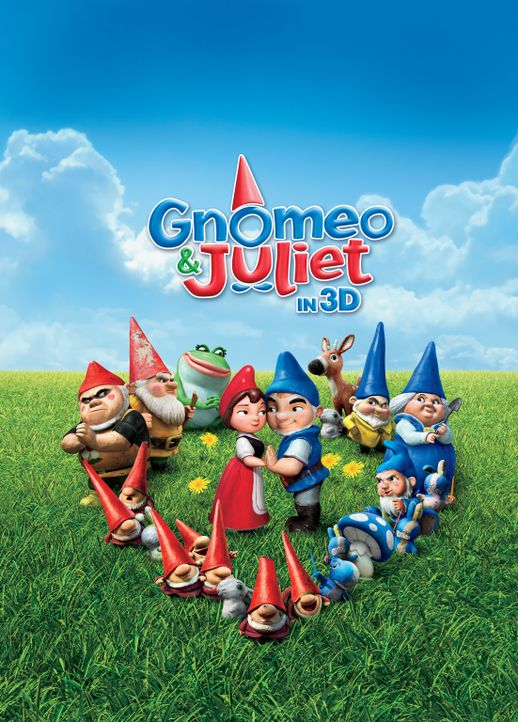 Gnomeo & Juliet - Plakatmotiv - Bildquelle: Touchstone Pictures,   Miramax Film NY, LLC. All rights reserved