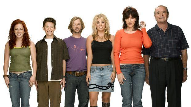 (3. Staffel) - Eine fast normale Familie: Bridget (Kaley Cuoco, 3.v.r.), Kerr...