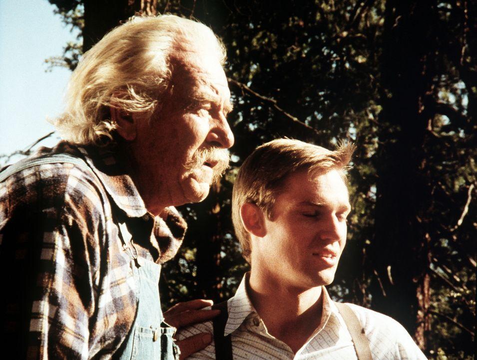 John-Boy (Richard Thomas, r.) erzählt seinem Großvater Sam (Will Geer, l.) von seiner Idee ... - Bildquelle: WARNER BROS. INTERNATIONAL TELEVISION