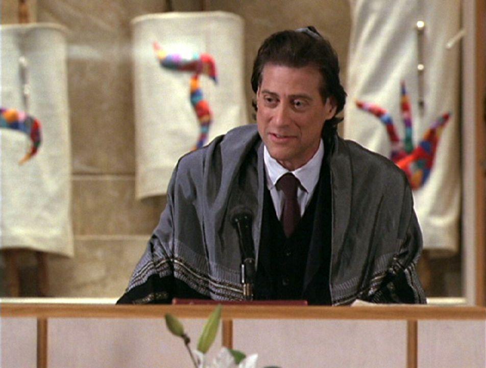 Ist von Annies Essen anfangs sehr begeistert: Rabbi Glass (Richard Lewis) ... - Bildquelle: The WB Television Network